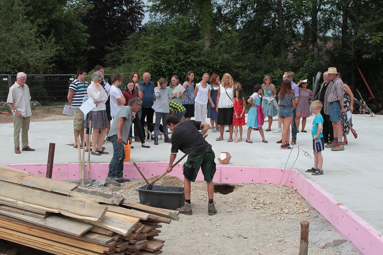 Grundsteinlegung fürs Lärchenhaus | Chiemsee Wg